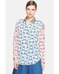 Stella McCartney Cloud Print Crpe De Chine Shirt