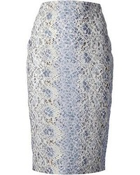Floral lace pencil skirt medium 51857