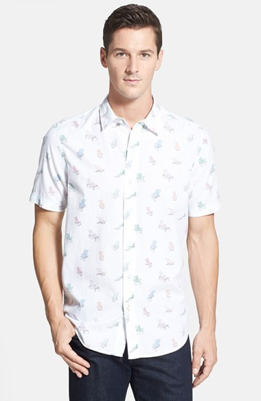 Tommy Bahama Siesta Beach Regular Fit Short Sleeve Print Sport Shirt