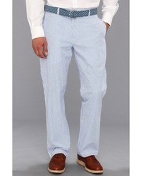 White and Blue Vertical Striped Chinos
