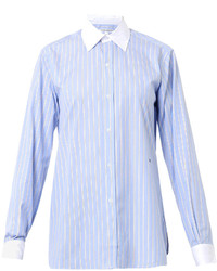 Charlotte gainsbourg x the button down striped cotton shirt medium 125022