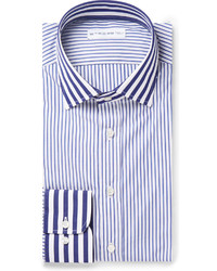 Navy striped cotton shirt medium 177143