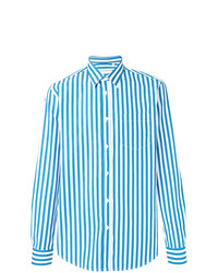 Department 5 Striped Button Down Shirt
