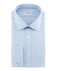 Striped french cuff dress shirt bluewhite medium 143526