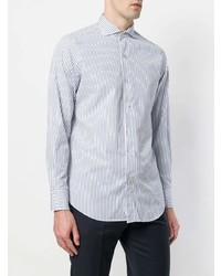 Finamore 1925 Napoli Striped Long Sleeve Shirt