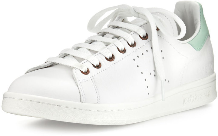 ... Adidas By Raf Simons adidas by Raf Simons Stan Smith Vintage Perforated Leather Sneaker, White
