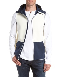 White and Navy Gilet
