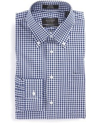 Shop traditional fit non iron gingham dress shirt medium 423924
