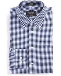 Shop trim fit non iron gingham dress shirt medium 423928