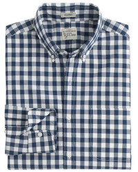 Slim secret wash shirt in faded gingham medium 240397