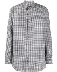 Brioni Ginham Print Shirt