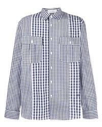 JW Anderson Panelled Check Print Shirt