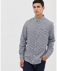 Original Penguin Slim Fit Gingham Shirt In Blue
