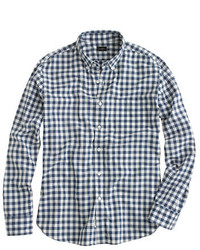 Slim secret wash shirt in faded gingham medium 253676