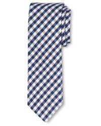 White and Navy Gingham Tie