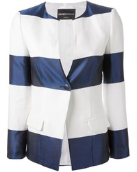 Emporio Armani Striped One Button Blazer