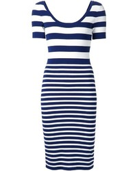 Michl kors striped dress medium 184536