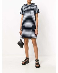74dd0794c4f White and Navy Horizontal Striped Casual Dresses for Women