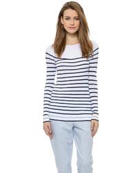 Mpatmos french stripe boat neck sweater medium 320027