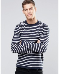 Stripe knitted sweater medium 683422