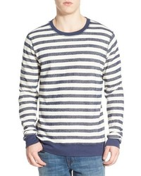 Threads for thought the andrew stripe crewneck sweater medium 683430