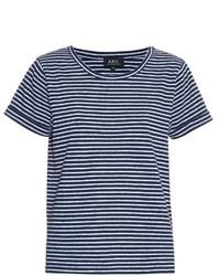 A.P.C. Breton Stripe Short Sleeved T Shirt