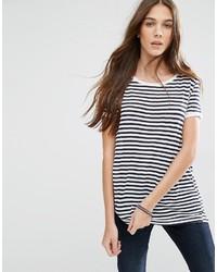 Tommy Hilfiger Hilfiger Denim Striped Crepe T Shirt