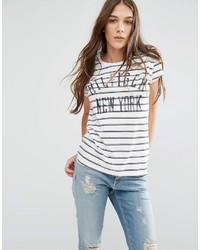 Tommy Hilfiger Hilfiger Denim Striped Logo T Shirt