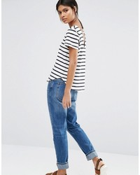 Selected Natali Striped T Shirt With Scoop Back