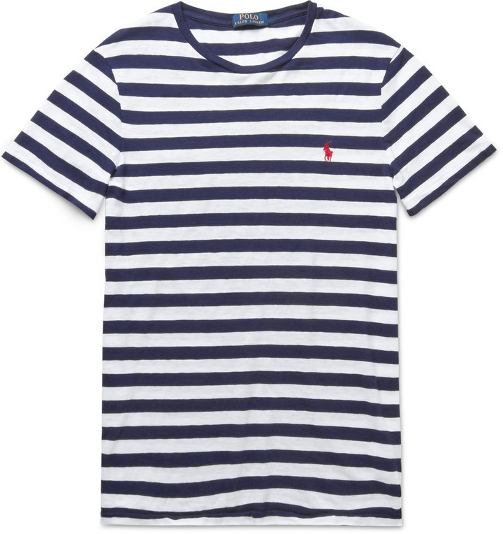 Buy Cheap Countdown Package Striped Cotton-jersey T-shirt Polo Ralph Lauren New Arrival Cheap Online Official With Paypal Sale Online Arv7q