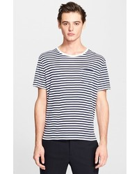 The Kooples Stripe Distressed Pocket T Shirt