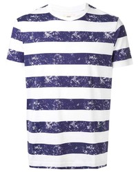 Kent & Curwen Striped Print T Shirt