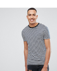 ASOS DESIGN Tall Stripe T Shirt In Navy And White