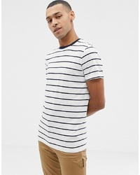 Selected Homme Yarn Dye Stripe T Tshirt