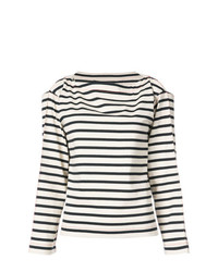 Sonia Rykiel Cold Shoulder Striped Top