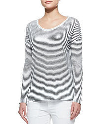 Long sleeve striped tee magnolia medium 49288