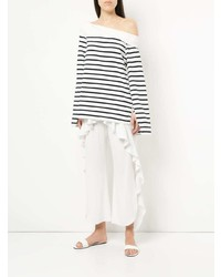 Goen.J Off The Shoulder Striped Top