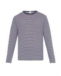 Striped cotton jersey t shirt medium 219393