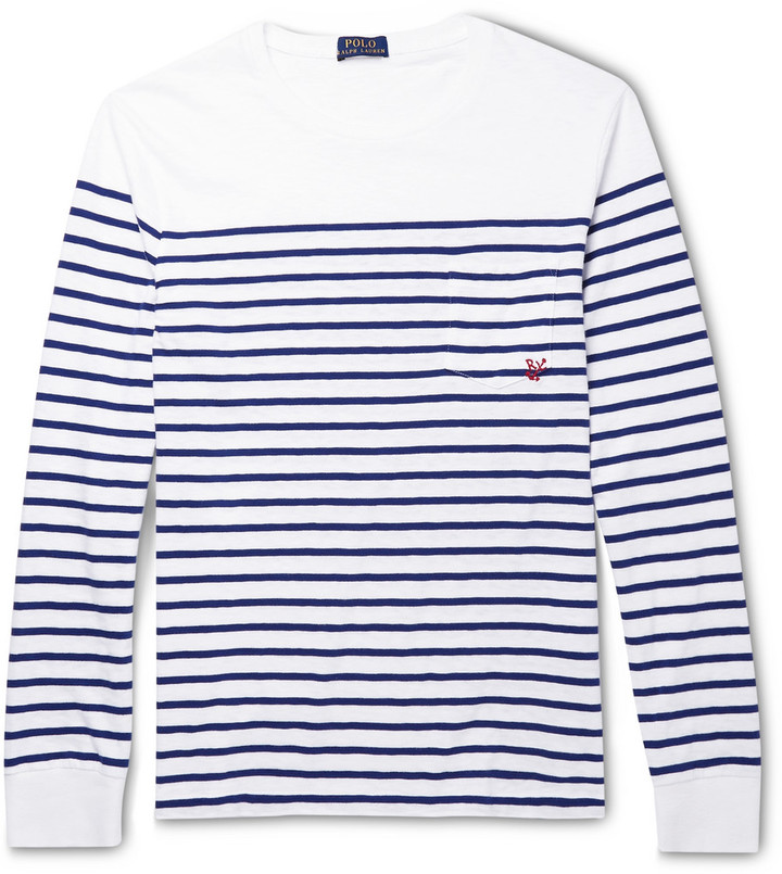 Polo Ralph Lauren Striped Cotton Jersey T Shirt