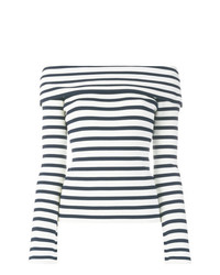 P.A.R.O.S.H. Off The Shoulder Striped Jumper