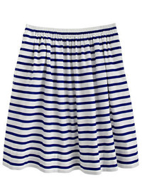J.Crew Pull On Skirt In Nautical Stripe