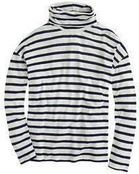 Deck striped turtleneck t shirt medium 112250