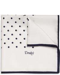 Drakes polka dot silk pocket square medium 9259
