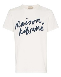 MAISON KITSUNÉ Logo Print Cotton T Shirt