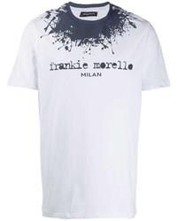 Frankie Morello Paint Splatter Logo T Shirt