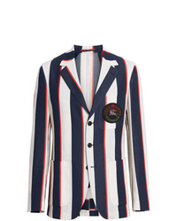 Burberry Striped Cotton Blend Club Blazer