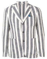 Manuel Ritz Striped Fitted Blazer