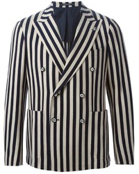 Tagliatore Striped Double Breasted Blazer