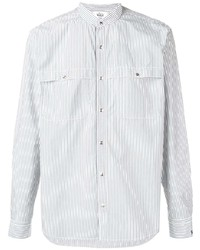 Woolrich Mandarin Collar Striped Shirt