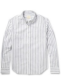 Band Of Outsiders Sketched Stripe Cotton Oxford Shirt